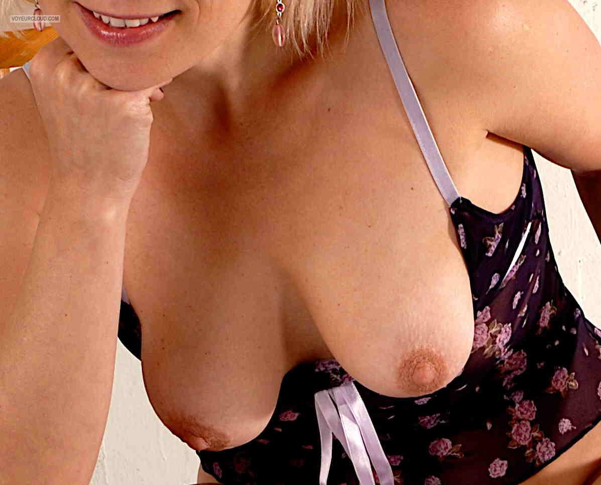 Tit Flash: Girlfriend's Medium Tits - Iva from Australia